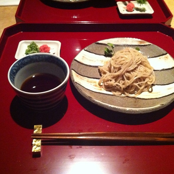 Housemade Soba With Warm Dipping Sauce - Kajitsu, New York, NY