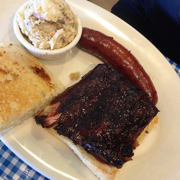 Rib Sandwich With Hot Link @ Salinas City BBQ