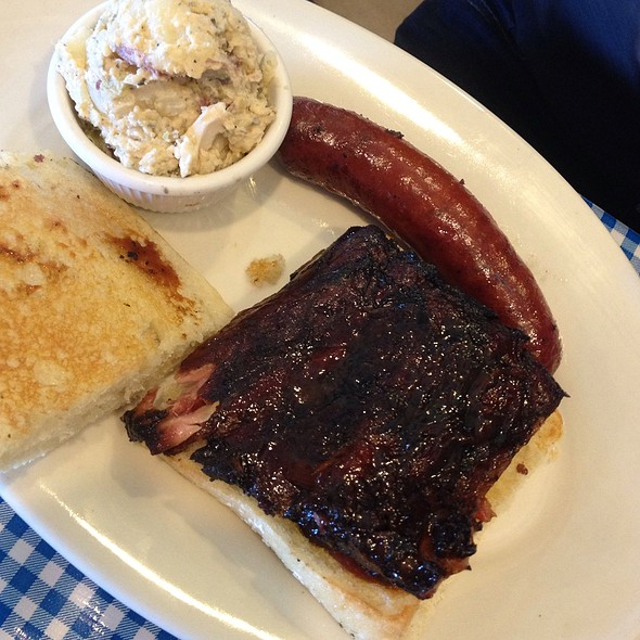 Rib Sandwich With Hot Link @ Salinas City BBQ