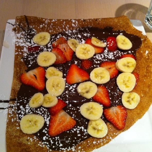 Chocolate Banana Strawberry Crepe