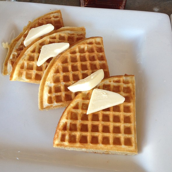 Crispy Waffles With Salted Butter @ Cheeky's