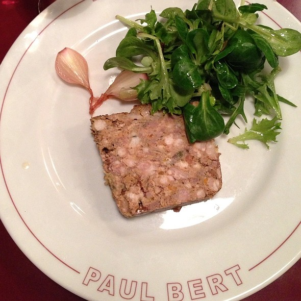 Pork Terrine With Watercress Leaves @ Bistrot Paul Bert