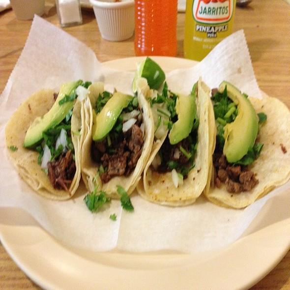 Cabeza And Carne Adada Tacos  @ Taqueria El Amigo