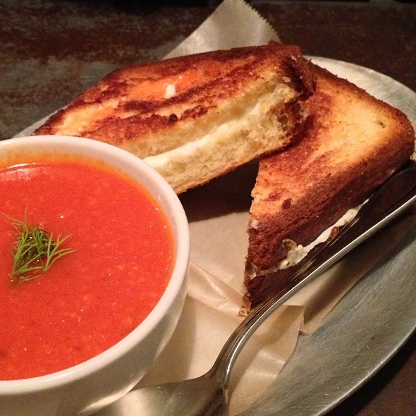 Cheddar & Mozzarella Grilled Cheese With Tomato Soup - Ha's Chinese, Astoria, NY