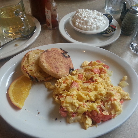 Lox Scramble with a side of Cottage Cheese