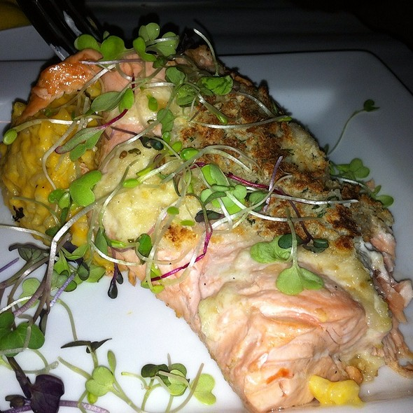 Salmon With Horseradish Crust And Pumpkin Rosotto - Protocol Restaurant, Williamsville, NY