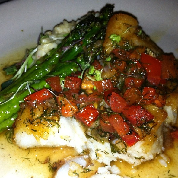 Sea Bass With Tomatoe Reduction And Rosotto - Protocol Restaurant, Williamsville, NY