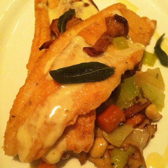 Trout W/Chanterelles & Mustard Cream