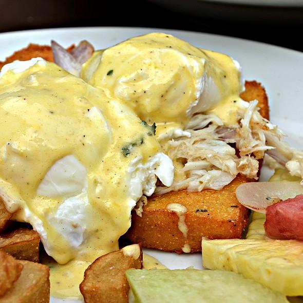 Poached Eggs  with Crab Meat - Mia Bella Trattoria - Main Street, Houston, TX