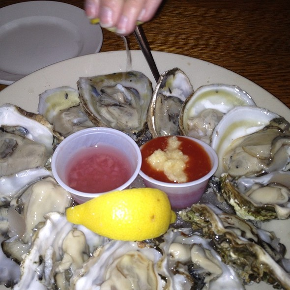 raw oysters - A&B Lobster House, Key West, FL