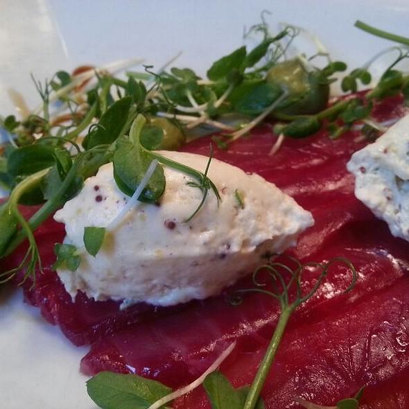 Beetroot Cured Salmon @ Bodega