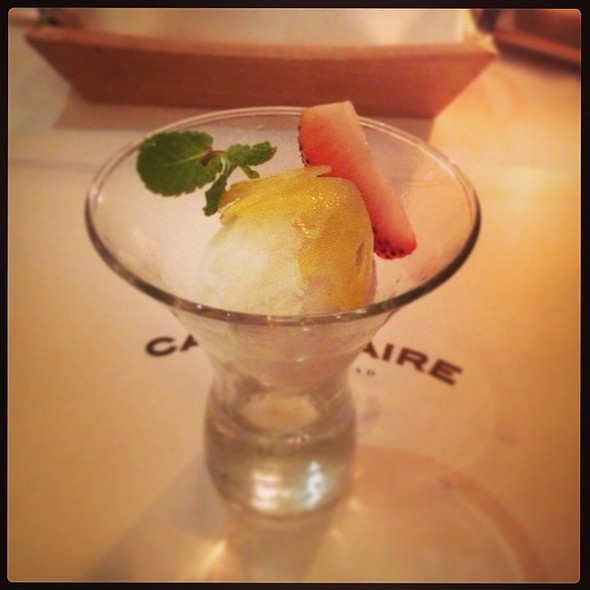 Sorbet @ Cafe Claire