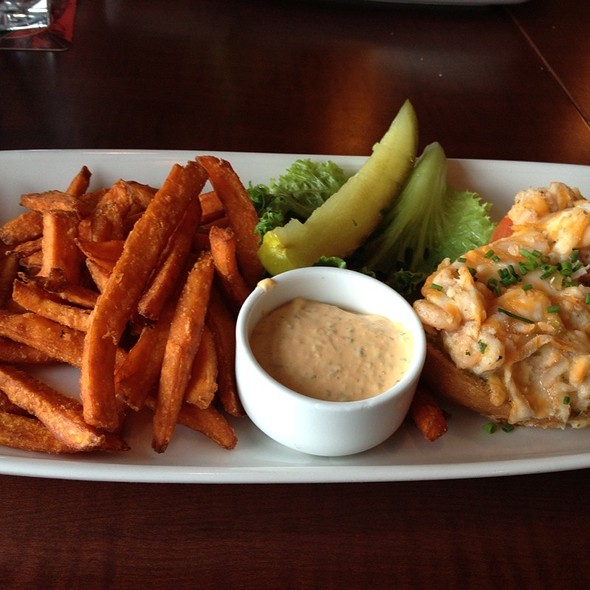 Crab And Shrimp Melt With Yam Fries - Boathouse White Rock, White Rock, BC