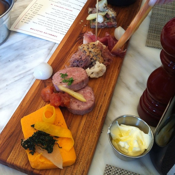 Charcuterie plate @ FIG Restaurant Santa Monica