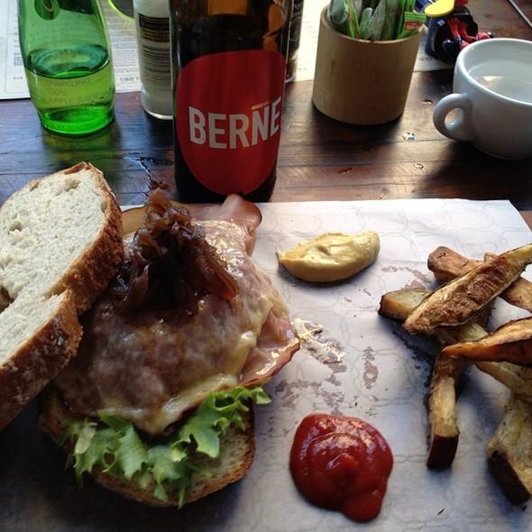 Beef Burger And Sweet Potato Fries @ Volo Telo