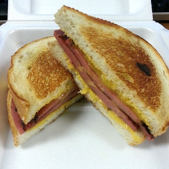 Grilled Bologna Melt on Sourdough Bread @ Byron's Drive Inn