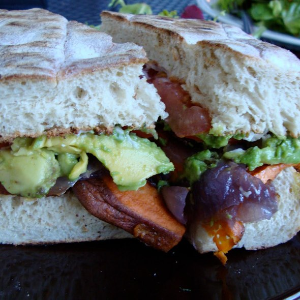 Sweet Potato Avocado Panini @ Sugar Plum Vegan Bakery & Cafe