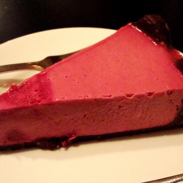 Blood Orange Live Cheesecake at Blossoming Lotus
