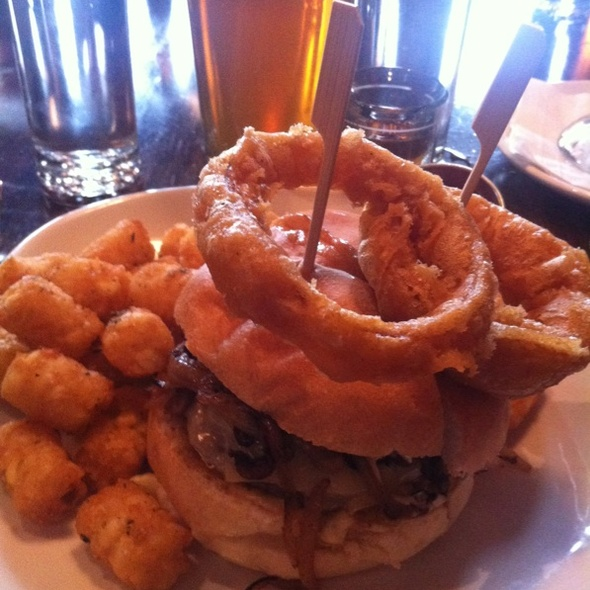 Mushroom Gruyer Burger And Tatertots @ Burger & Barrel