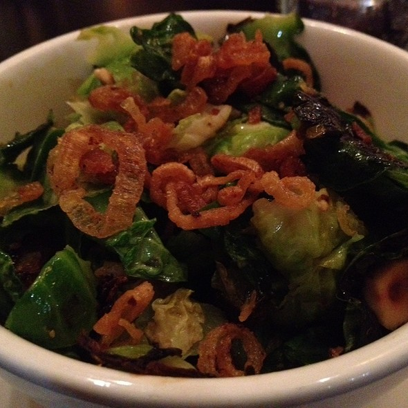 Roasted Brussel Sprouts With Hazelnut-Yukon Potato Mousseline, Piave Cheese And Capicolla - Riffs, Boulder, CO