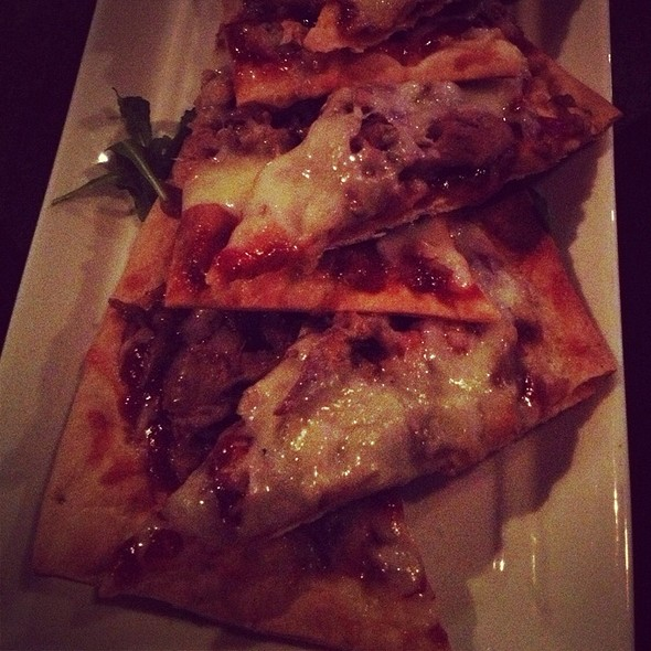 Roasted Duck & Bbq Apple Flatbread - WINE DIVE, West Palm Beach, FL