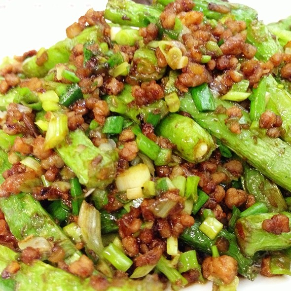 Sautéed French Bean With Minced Pork And Chili ❄ @ Crystal Jade 翡翠拉麵小籠包
