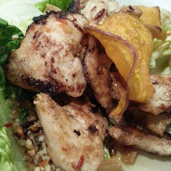 Warm Sweet Chilli Chicken Salad With Sweet Potato & Parsnip Chips @ Zuni Cafe & Restaurant