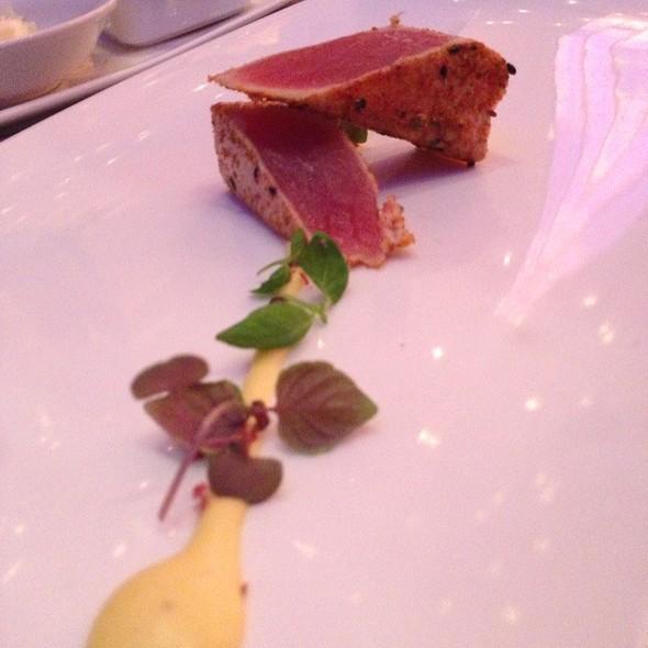 Seared Yellow Fin Tuna With Sea Urchin Infused Holandaise Sauce - Iridescence, Detroit, MI
