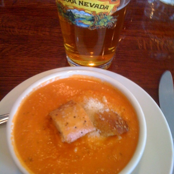 Tomato Basil Bisque with Founders Double Trouble IPA @ Hawthornes
