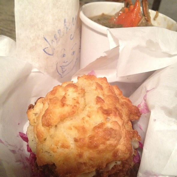 Fried Chicken and Biscuit @ Cheekys Sandwiches