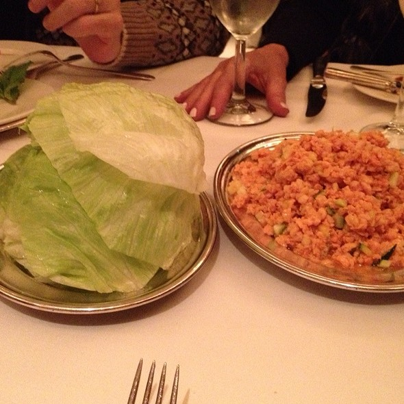 Chicken Lettuce Wraps - MR CHOW - 57th, New York, NY