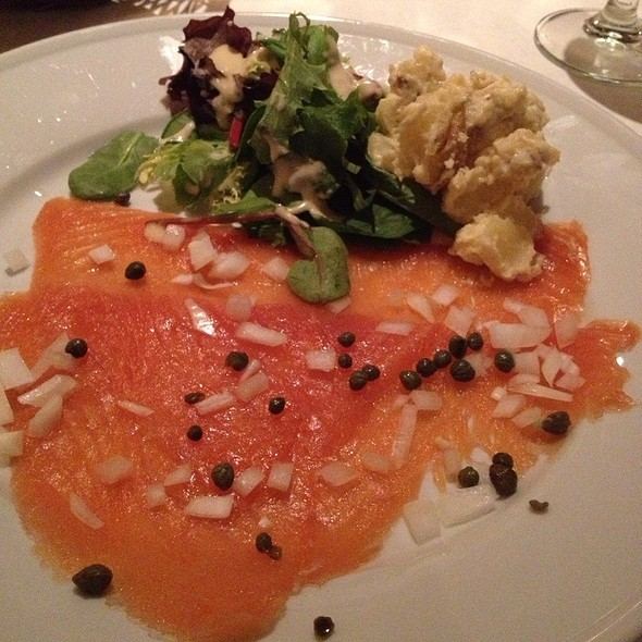 Smoked Salmon With Capers And Condiments - French Market Grille, San Diego, CA