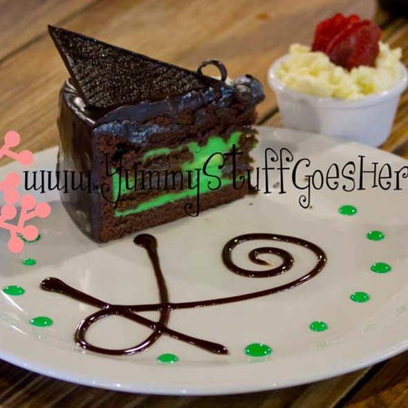Mint Chocolate Cake @ Kinross Woolshed Hotel