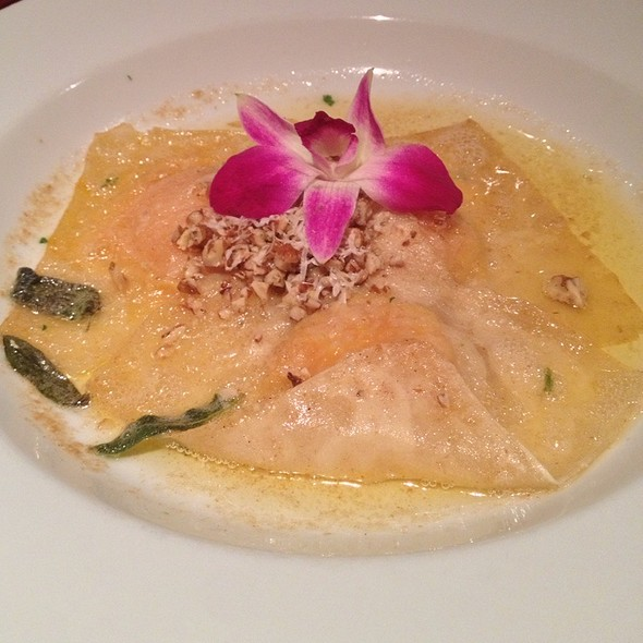 Roasted Butternut Squash Ravioli - Manhattan Steak and Seafood, Orange, CA