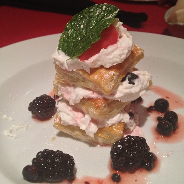 Fresh Berry Napoleon - Manhattan Steak and Seafood, Orange, CA