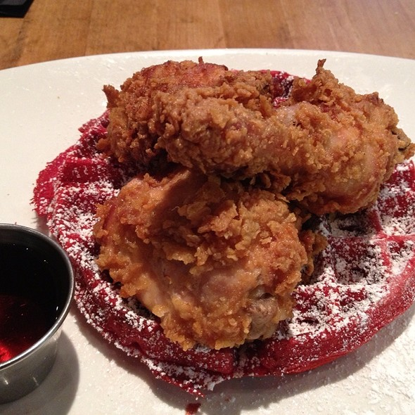 Buttermilk Fried Chicken & Red Velvet Waffles - Soco, Brooklyn, NY