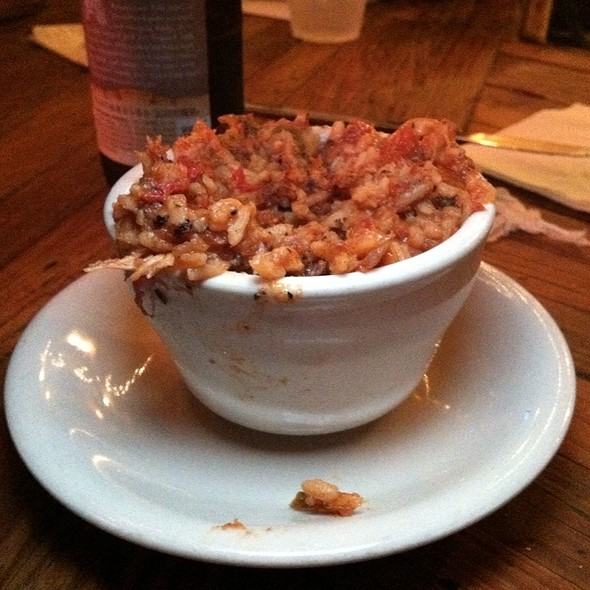 Rabbit and Sausage Jambalaya @ Coop's Place