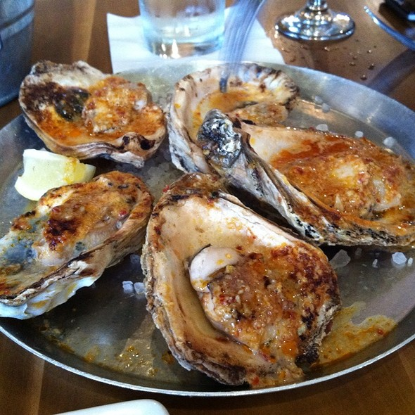 wood-fired oyster roast @ Cochon