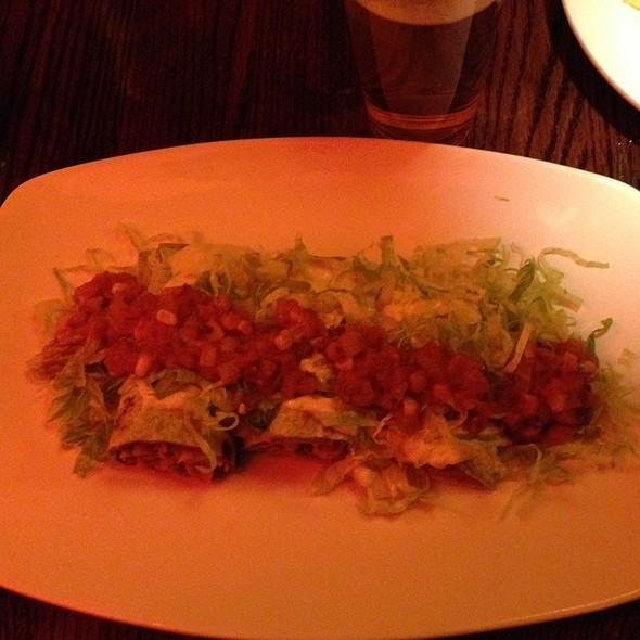 Soy Chicken Enchiladas @ Cafe Sunflower