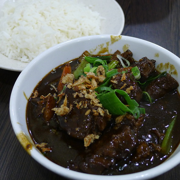 Five Spices Beef Brisket served with Rice @ Albee's Kitchen