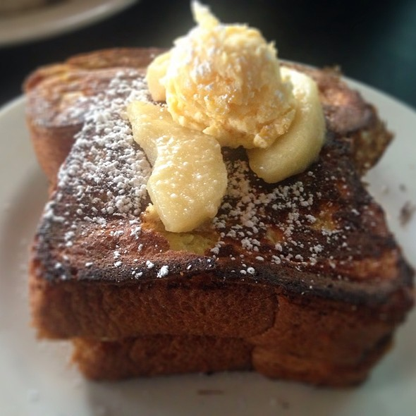 Apple Pie French Toast. Cheddar Cheese Compound Butter. @ West Egg Cafe