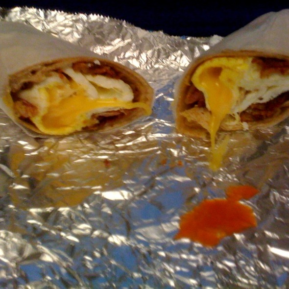 Bacon Egg and Cheese Wrap @ Cafe Metro