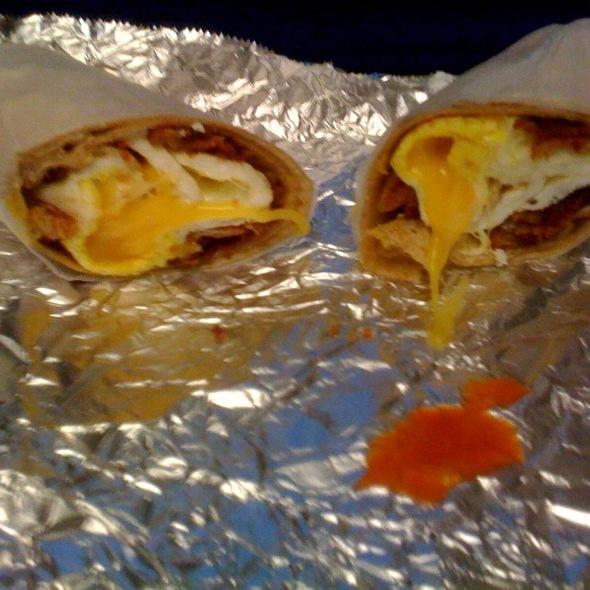 Bacon Egg and Cheese Wrap @ Cafe Metro