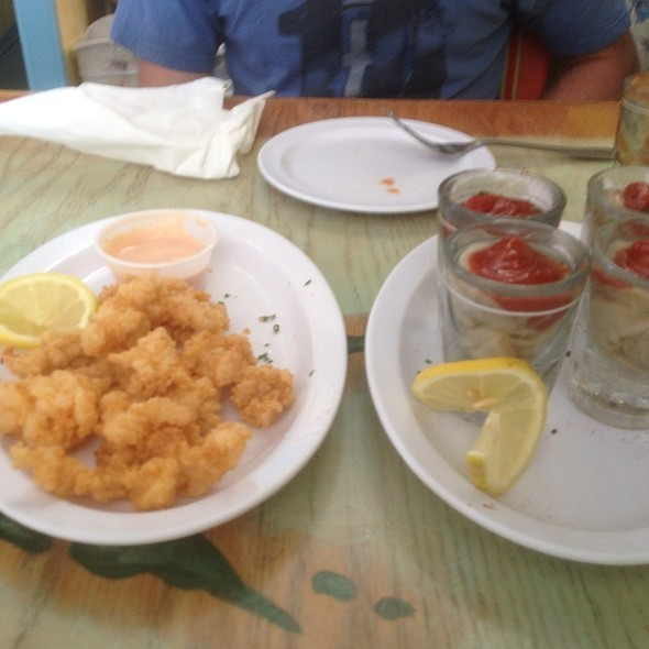 Fried Conch And Oyster Shooters
