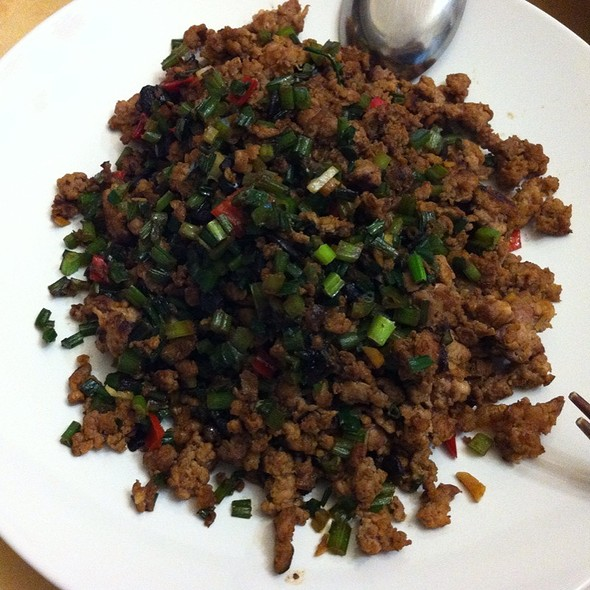 fly head (ground pork meat fried with black beans and minced leeks)s @ Home