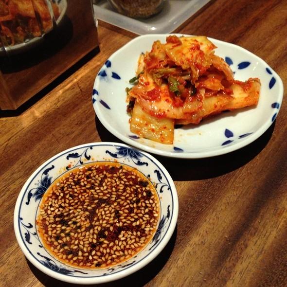 Kimchi & My Recipe Gyoza Dipping Sauce
