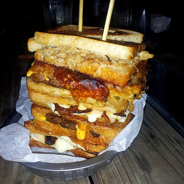 Gargantuan Grilled Cheese Sandwich @ The Golden Grill
