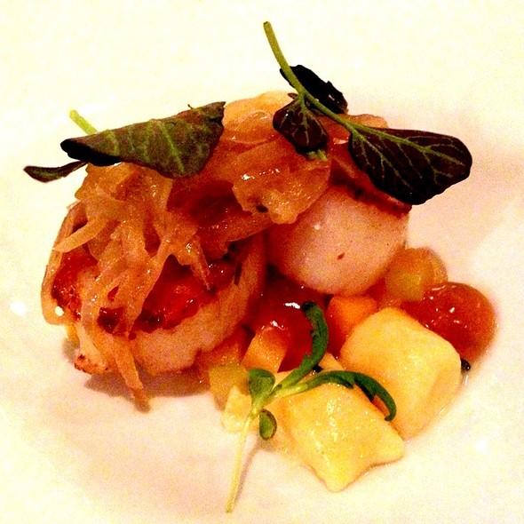 Sea Scallops With Onion Confit, Apple, Brioche Gnocchi And Rutsbaga - Piccolo, Minneapolis, MN