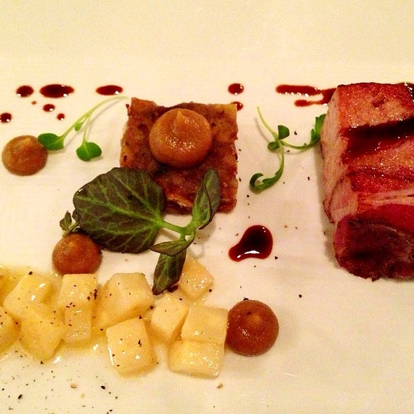 """Berkshire Pork Short Rib """" Pancetta"""" With Chicken Liver , Chestnuts, Celery Root And Onion Butter.    - Piccolo, Minneapolis, MN"""