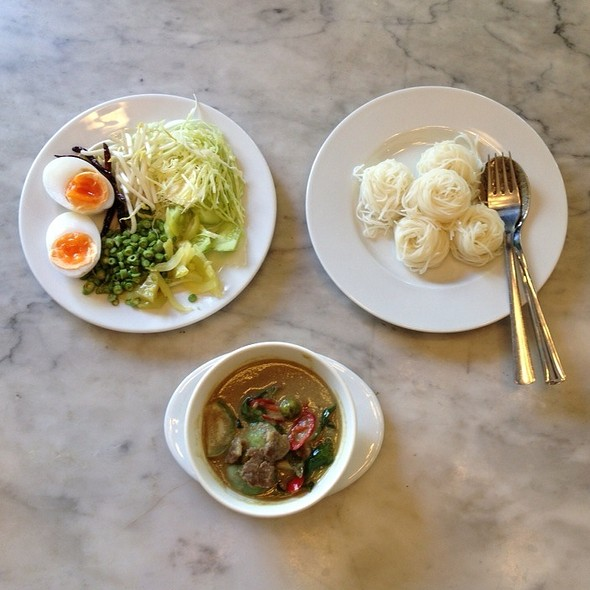 Rice Noodles With Green Curry